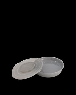 Twistshake talerzyk z pokrywką 6M+ 430ml szary