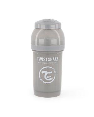 Twistshake butelka antykolkowa 0M+ szara 180ml