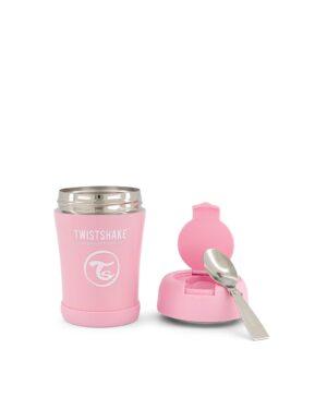 Twistshake pojemnik termiczny 350ml z łyżką, różowy