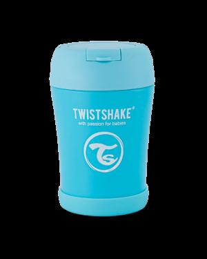 Twistshake pojemnik termiczny 350ml z łyżką, niebieski