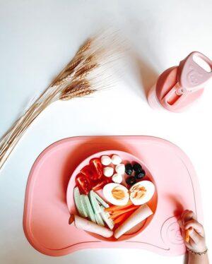 Twistshake mata mini plus talerzyk 6M+ różowy