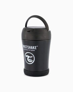 Twistshake pojemnik termiczny 350ml z łyżką, czarny