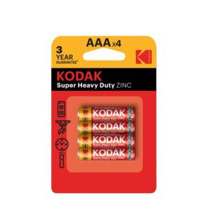 KODAK baterie cynkowo-węglowe AAA (R3) 4 szt.