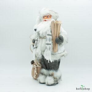 Figurka Świętego Mikołaja z nartami i workiem 46cm